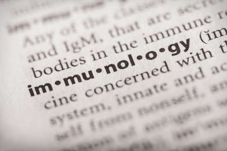Selective focus on the word immunology. Many more word photos in my portfolio.
