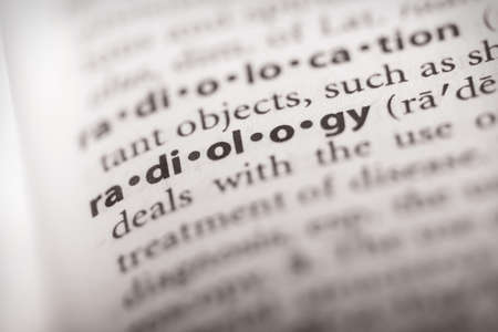 Selective focus on the word radiology. Many more word photos in my portfolio.