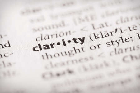 Selective focus on the word clarity. Many more word photos in my portfolio.