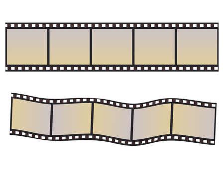 r image: Banner in forma di diafilma. Vector illustration