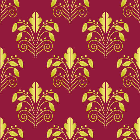 Seamless background. Gold is red. Vector illustration Vector