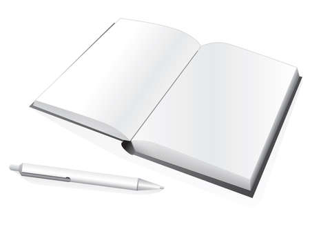 Notebook and pen. Vector illustration Vector