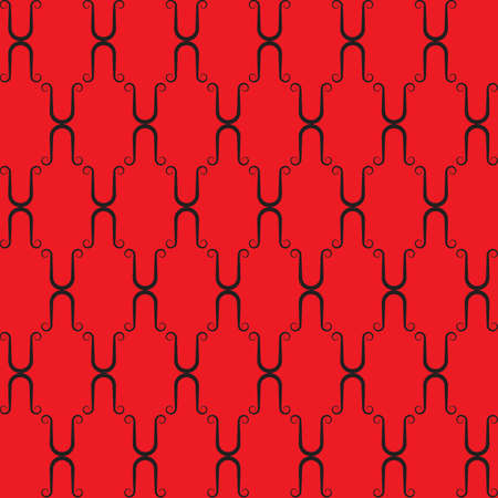 Red seamless background. Vector illustration Stock Vector - 3898452