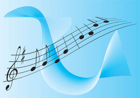 semiquaver: Melody for Two. Vector illustration