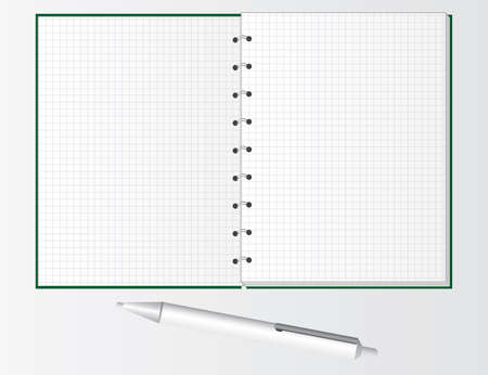 Pen and notebook for students. Vector illustration Vector