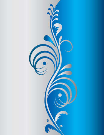Blue background with a vertical pattern. Vector illustration Vector