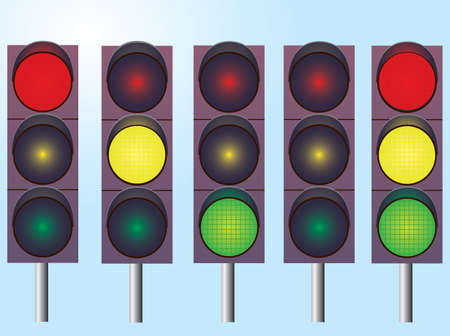 A set of traffic lights. Vector illustration