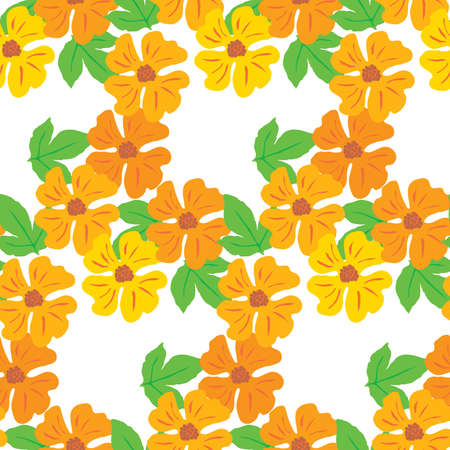Seamless background of the flowers. Vector illustration Vector