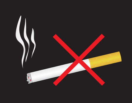 Say No to nicotine dependence. Vector illustration Vector