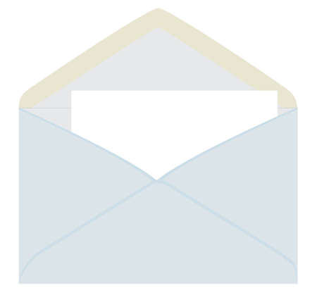 Letter from the gray envelope. Vector illustration Vector