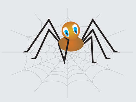 A little sad lonely spider. Vector illustration Vector