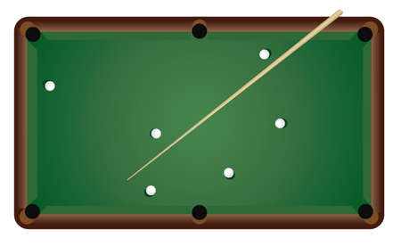 table set: This set to play billiards. Vector illustration