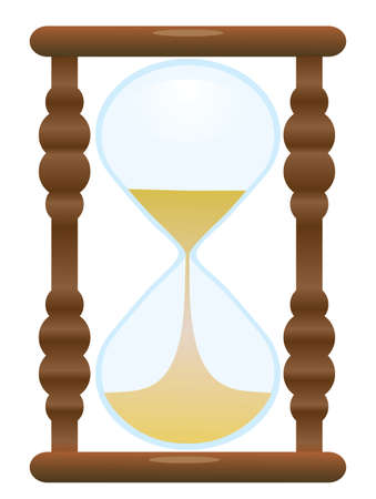The old hourglass. Vector illustration Vector