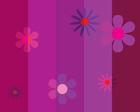 Seamless striped background with flowers. Vector illustration Stock Vector - 5184854
