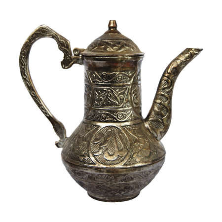 ewer: The ancient bronze ewer from the collection. Stock Photo