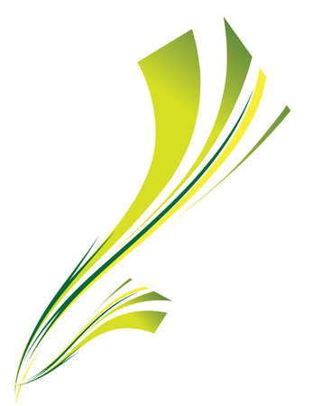 Abstract background of green on white. Vector illustration Vector