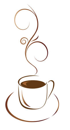 A cup of coffee for your favorite. Vector illustration Vector
