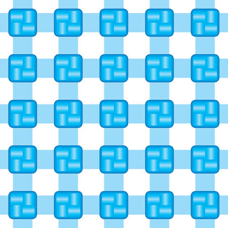 Seamless white and blue background. Vector illustration Vector