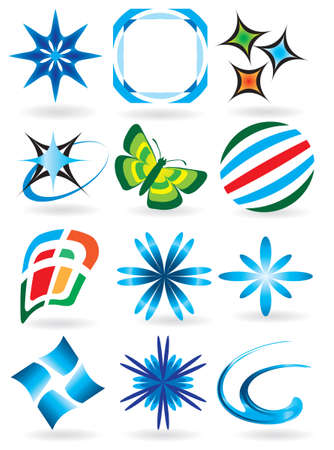A collection of symbols for the design. Vector illustration  Vector