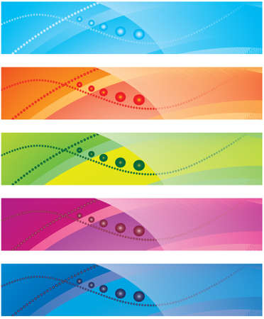 The collection of colorful backgrounds. Vector illustration Vector