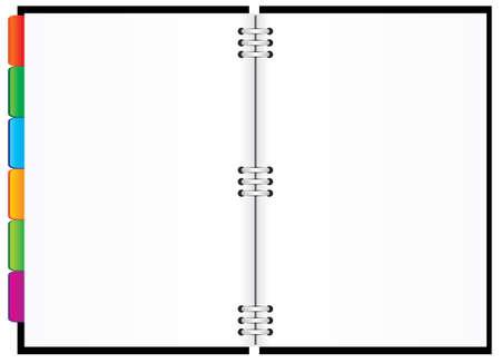 Diario Negro con fichas de colores. Vector illustration Ilustración de vector