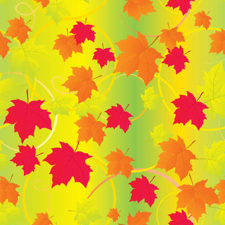 Seamless background with autumn leaves. Vector illustration Vector