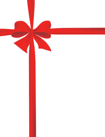 Packaging with a red ribbon with a bow. Vector illustration Illustration