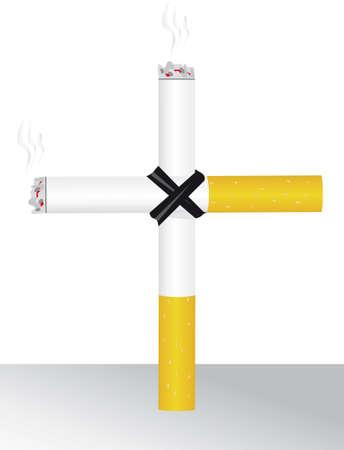 smoking kills: Tobacco smoking kills you slowly. Vector illustration