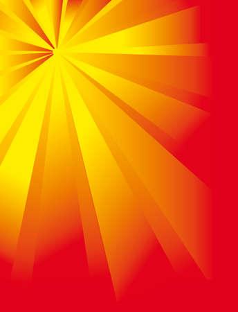 Fantastic flower of the suns rays. Vector illustration Vector
