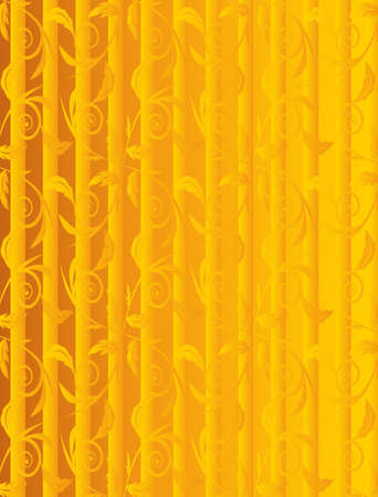 Abstract golden autumn floral background. Vector illustration Stock Vector - 5670410