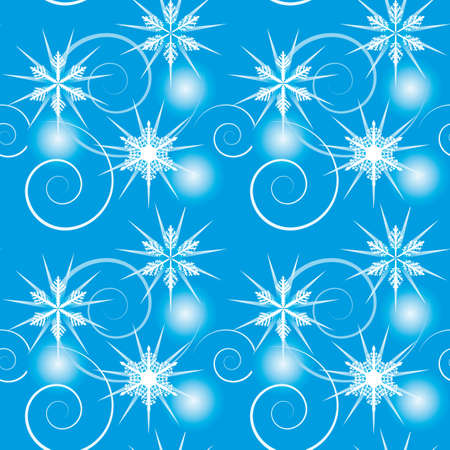 Seamless background with falling snowflakes. Vector illustration Vector