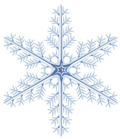 One snowflake on a white background. Vector illustration Vector