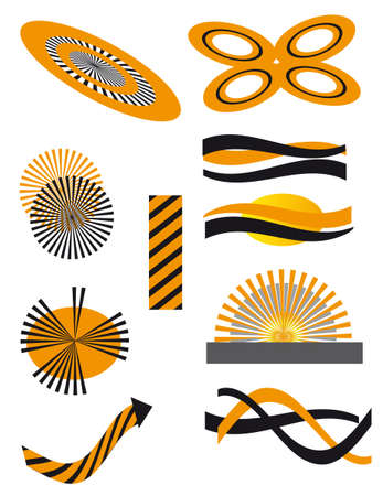 The collection of symbols for the design. Vector illustration Vector
