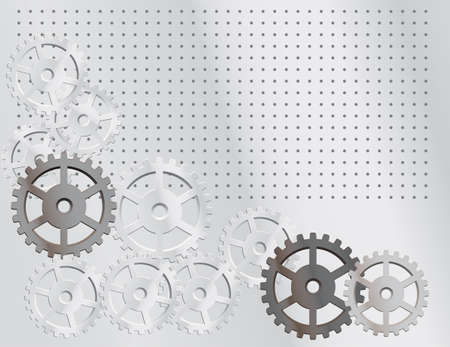 Gray background with the gears. Vector illustration Vector