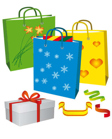 Shopping for a family holiday. Vector illustration Stock Vector - 5900461