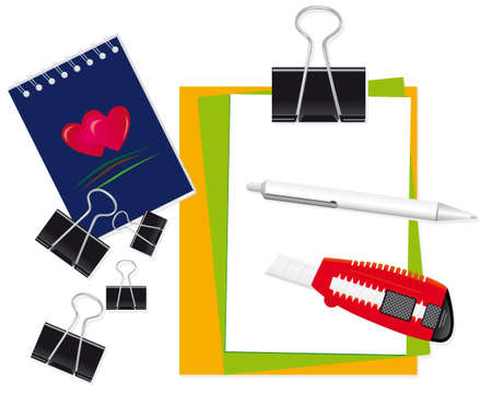 A set of stationery for the office. Vector illustration Vector
