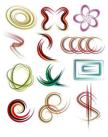 A set of abstract design elements. Vector illustration Vector