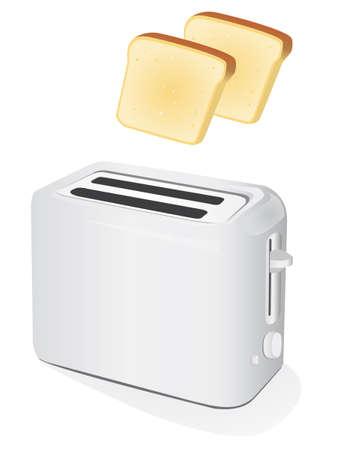 Plastic Elektrische toaster met toast.
