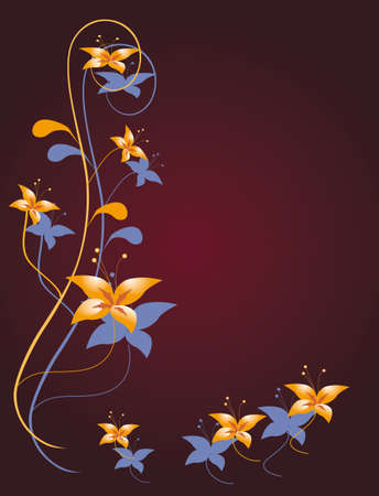 Flower decoration for the angular design. Vector illustration Vector