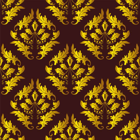 Seamless background of red and gold. Vector illustration Vector