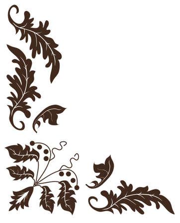crocket: Plant ornament for the angular design. Vector illustration