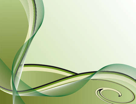 Abstract background of green stripes. Vector illustration Vector