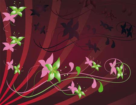 crocket: Flower decoration for the design.  illustration