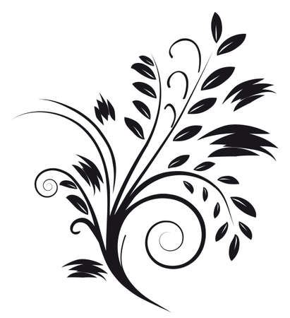 Tattoos in the form of an abstract bouquet. illustration Stock Vector - 6315367