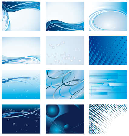 Collection of blue background for design. Vector illustration Vector