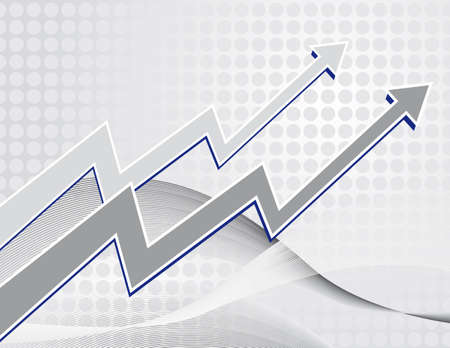 market trends: The background to the growth charts. Vector illustration