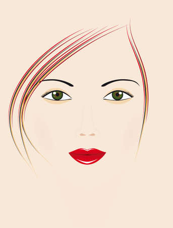 Beautiful girl with green eyes. Vector illustration Vector
