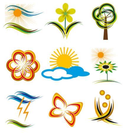 Set of elements of nature. Vector illustration Stock Vector - 6380717