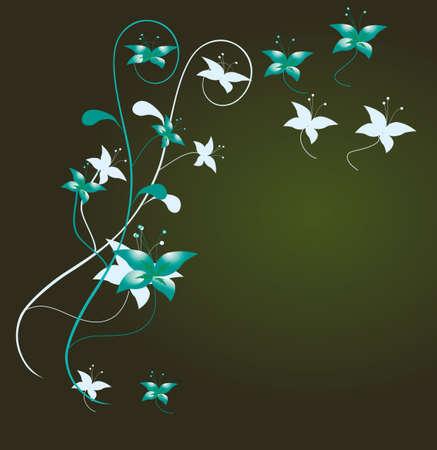 Flower decoration for the angular design. Vector illustration Vector