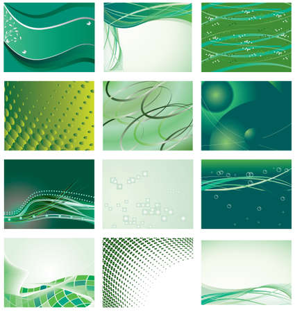 Collection of green background for design. Vector